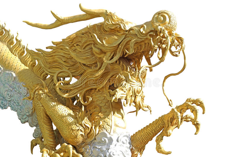 Chinese golden dragon royalty free stock photo