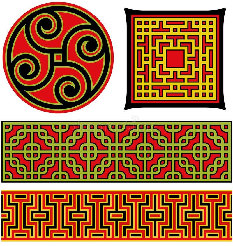 Chinese grafische elementen royalty-vrije illustratie