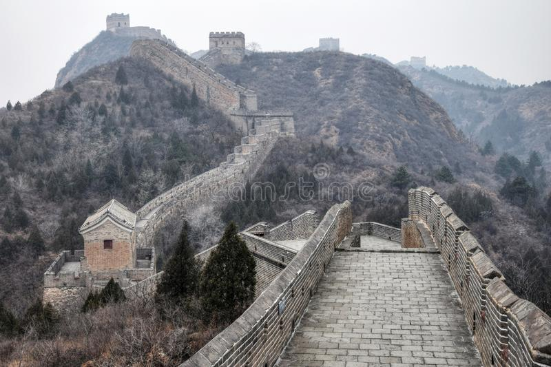 The Chinese Great Wall near Beijing stock image