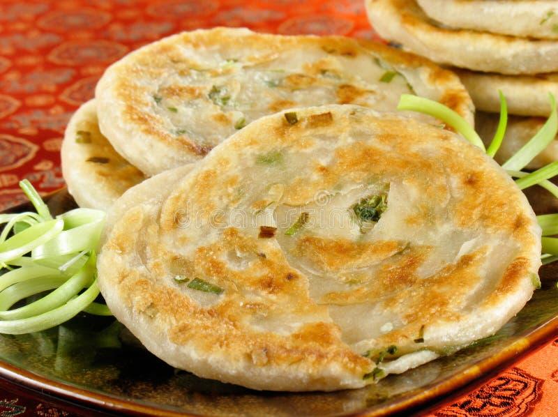 Chinese Green Onion Pancakes royalty free stock photos