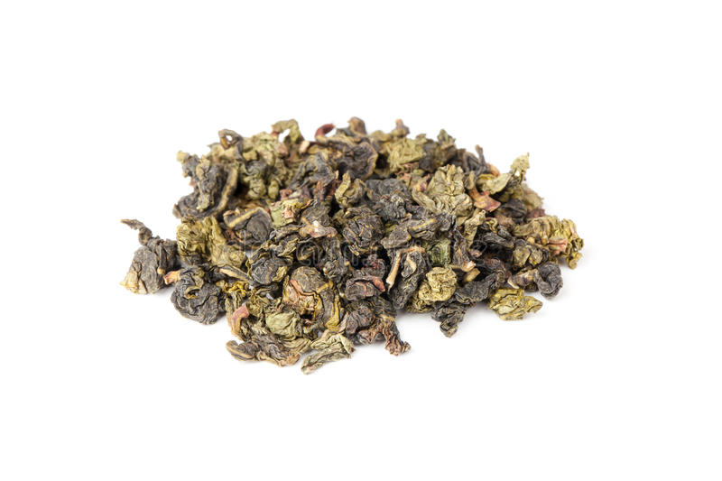 Chinese green oolong tea isolated on white stock photo