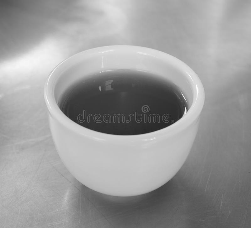 CHINESE GREEN TEA ON STEEL TABLE royalty free stock photo