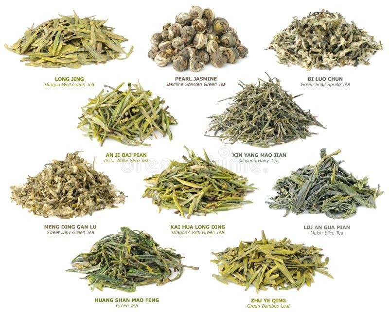 Chinese groene theeinzameling stock foto's