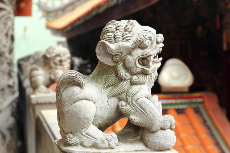Chinese guardian lions. Or Imperial guardian lions, often miscalled `Foo Dogs` in the West, are a common representation of the lion in imperial China.  are royalty free stock photo
