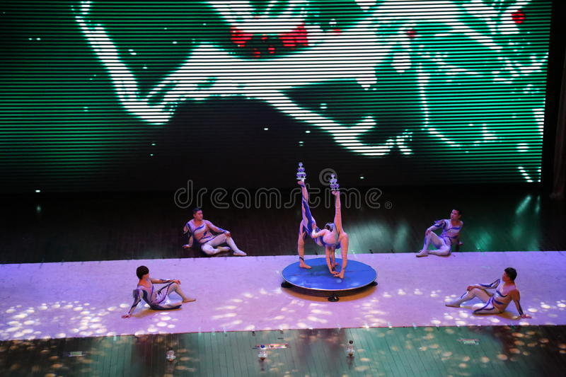Chinese Gymnastics royalty free stock images