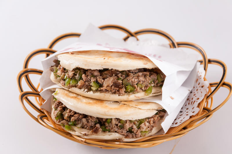 Chinese hamburger, Shaanxi-kenmerk royalty-vrije stock fotografie