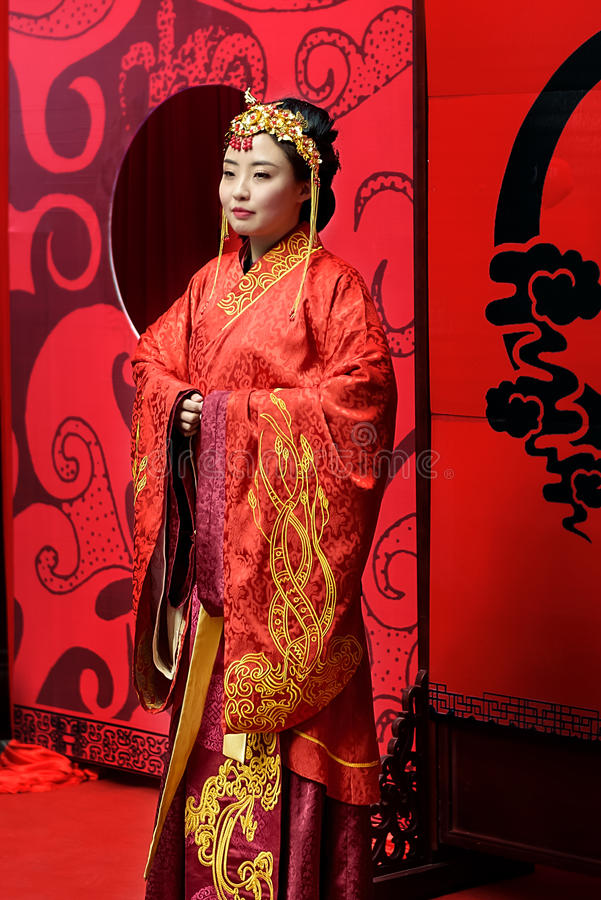 Chinese Han Dynasty Women Garments. stock photos