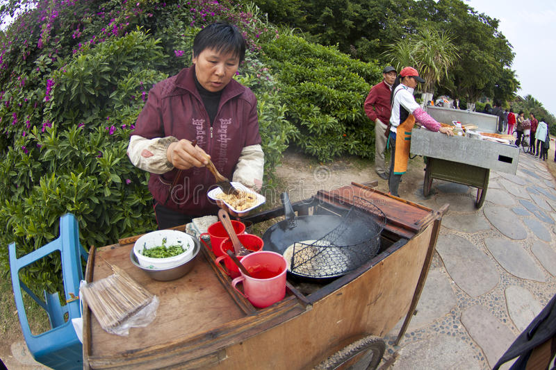 Download Chinese hawker in China editorial stock photo. Image of hawker - 23308783