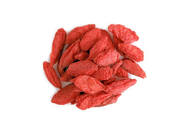 Chinese herb - Goji berry. Wolfberry isolated on white stock photo