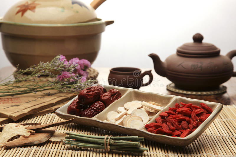 Chinese herbal medicine. Close-up stock images