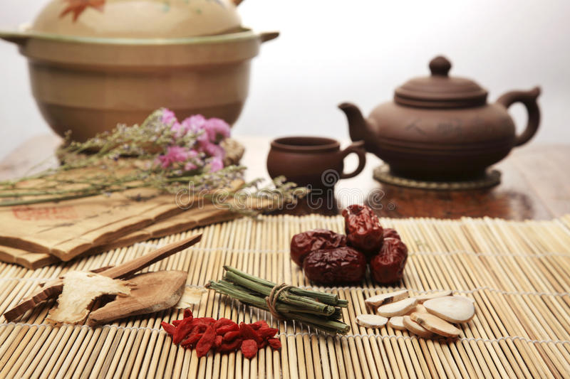 Chinese herbal medicine. Close-up royalty free stock images