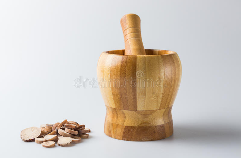 Chinese Herbal Medicine on the table.  stock photography