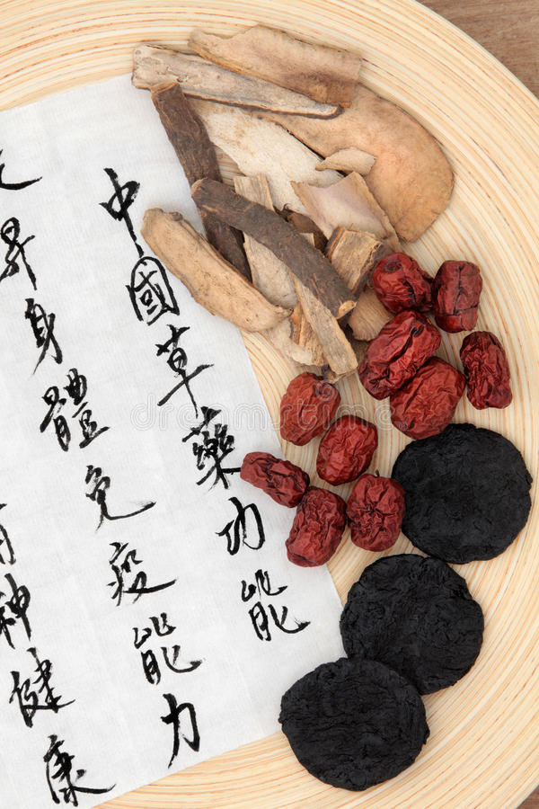 Download Chinese Herbs stock photo. Image of mandarin, root, health - 34123148