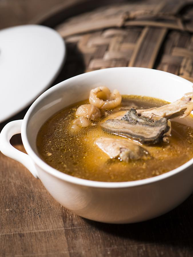 Chinese herbs soup royalty free stock photos