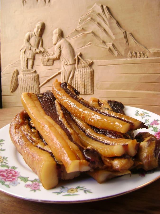 Chinese het baconplakken van de varkensvleesbuik stock afbeeldingen