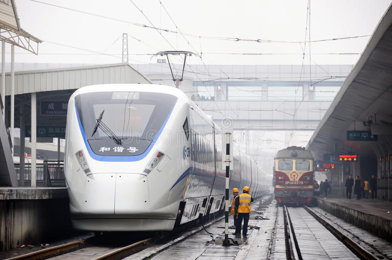 Chinese High Speed Train Editorial Photography