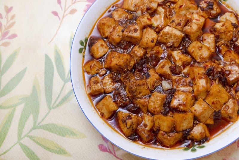 Chinese home dish - mapo tofu stock photo