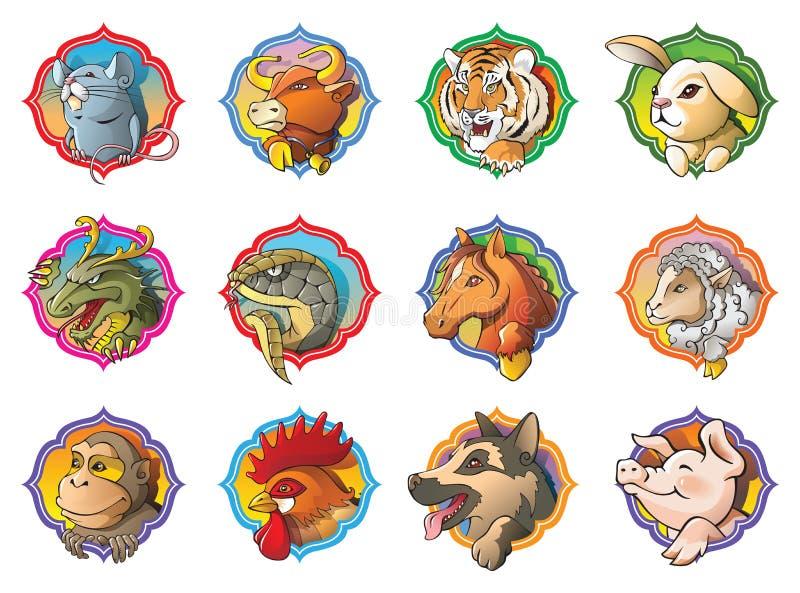 Chinese horoscope stock illustration