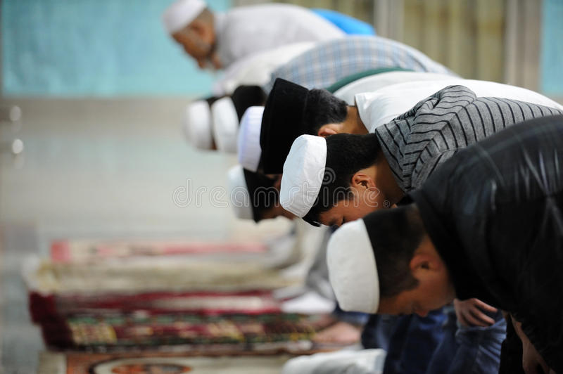 Chinese hui people worship. In Xining ,Qinghai,China.the Hui are the most populous of China's Muslim peoples royalty free stock image