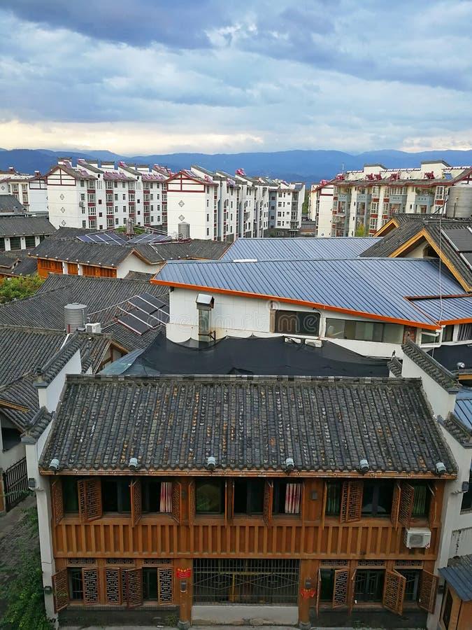 Chinese Huisvesting in Sichuan stock foto