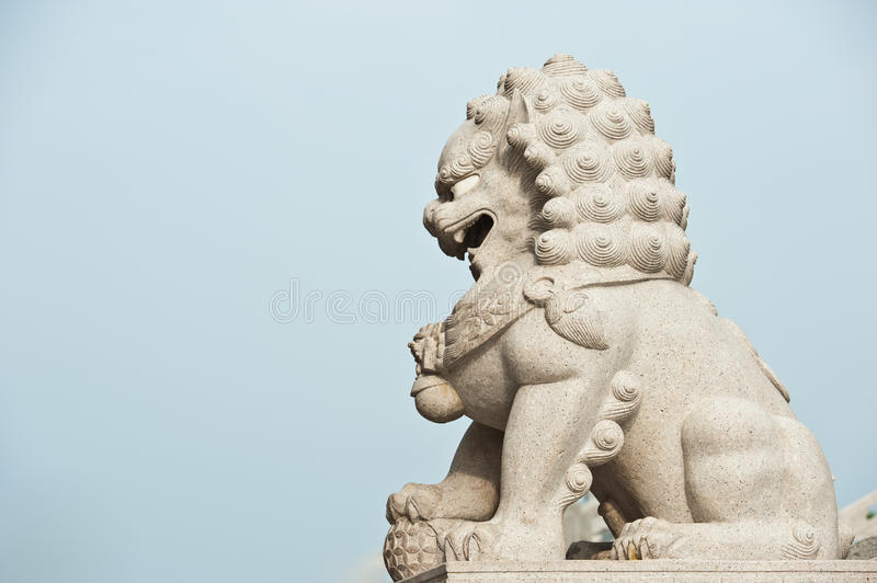 Download Chinese Imperial Lion stock image. Image of cloud, iron - 20005619