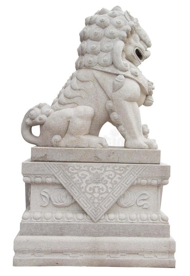 Chinese Imperial Lion Statue stock images