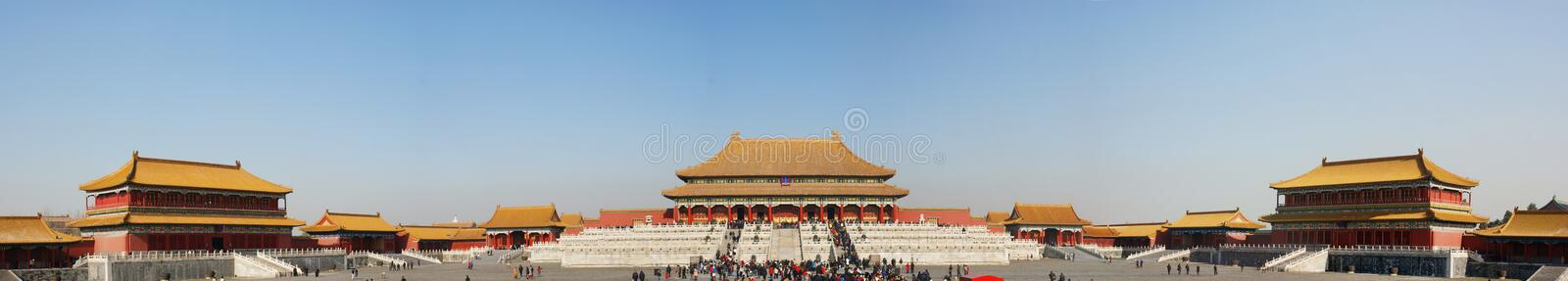 Chinese imperial Palace. In the forbidden city,panaroma royalty free stock image