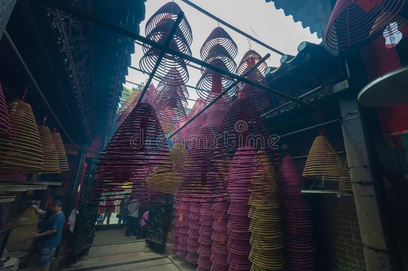 Chinese incense coils royalty free stock photo