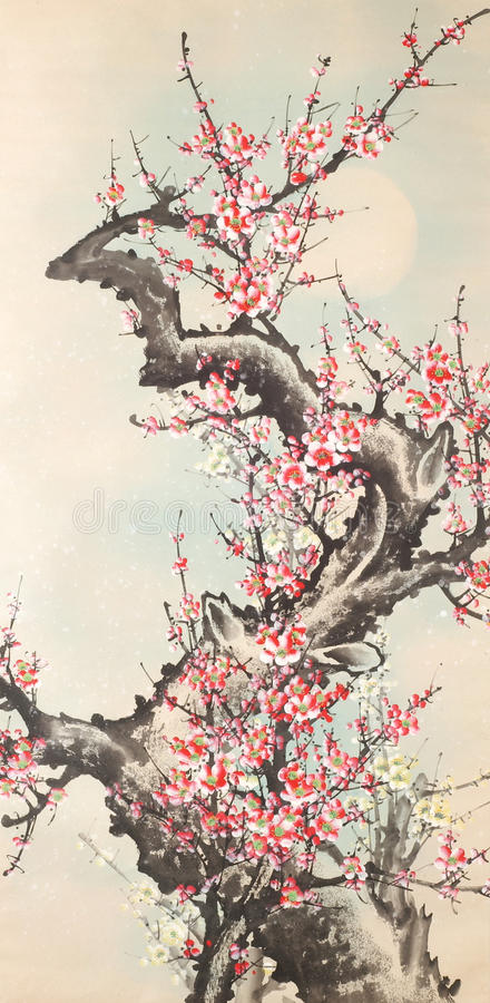 Chinese Ink Painting stock illustration