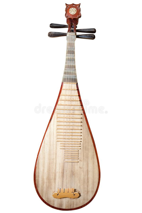 Download Chinese instrument Pipa stock image. Image of amusement - 13532827