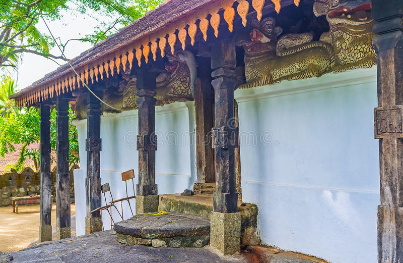 Chinese invloed op het art. van Sri Lankan stock afbeeldingen