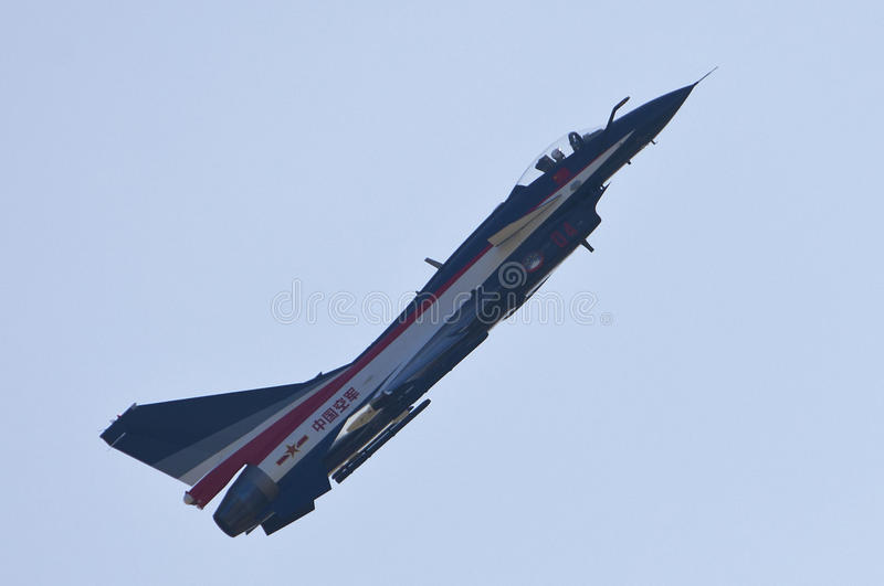 Download Chinese J-10 fighter editorial stock photo. Image of transportation - 20837698