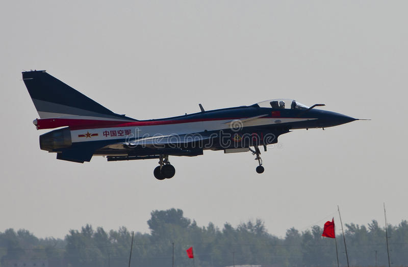 Download Chinese J-10 fighter editorial stock image. Image of transportation - 20837724
