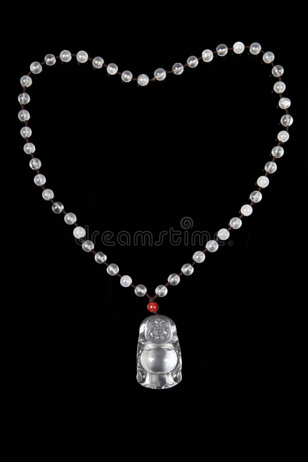 Chinese jade necklace stock photography