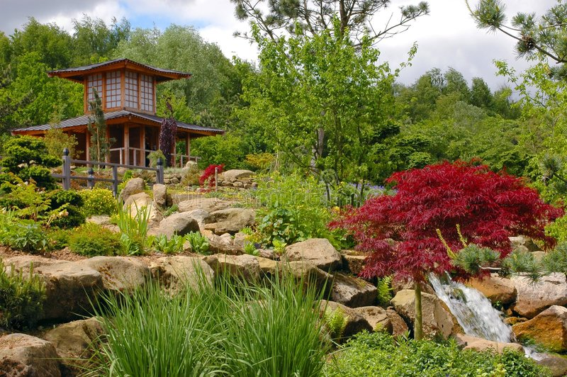 Chinese, japanese garden. royalty free stock photography