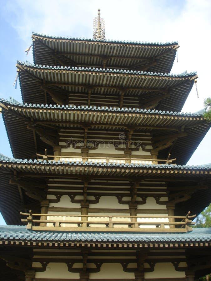 Chinese/Japanese Pagoda stock images