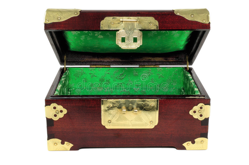 Chinese Jewelry box open stock image Image of vintage 7587977