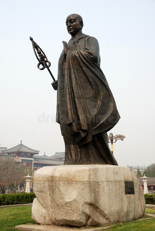 Chinese jianzhen monk sculpture royalty free stock images