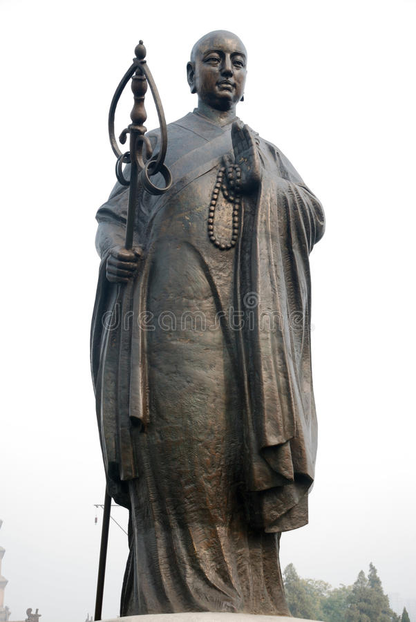 Chinese jianzhen monk sculpture royalty free stock photo