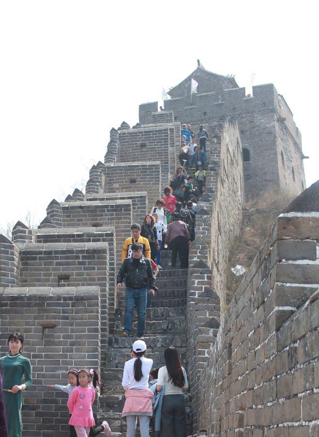Chinese Jinshanlings-Chinesische Mauer stockfoto