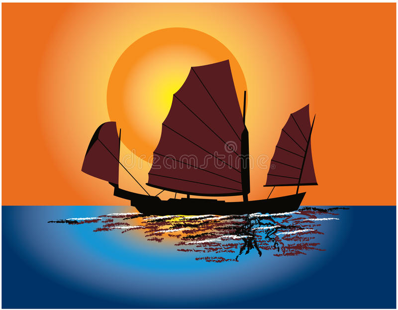 Download Chinese Junk stock vector. Image of craft, exoticism - 18349452