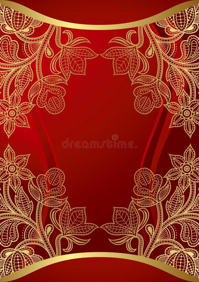 Chinese Kaart van het Huwelijk 2 vector illustratie