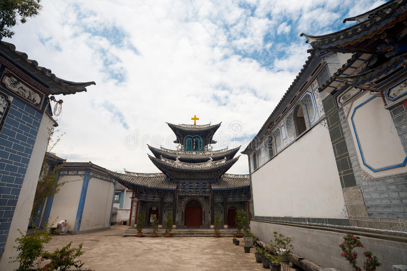 Chinese Kerk Dali Yunnan royalty-vrije stock foto's
