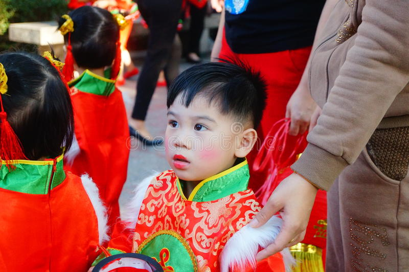 Chinese kindergarten children. Participate in theatrical performances. In Shenzhen, china royalty free stock images