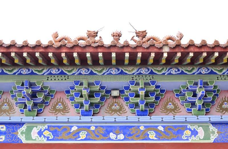 Chinese Klassieke Architectuurstructuur stock afbeeldingen