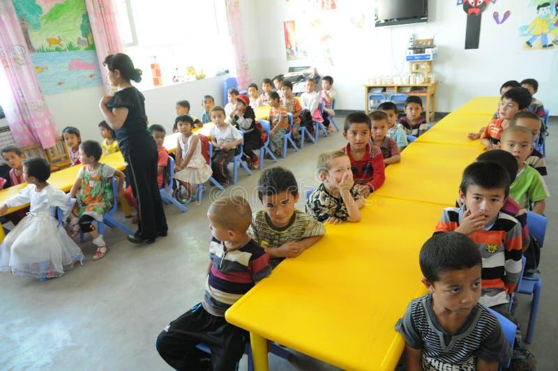 Chinese kleuterschool royalty-vrije stock afbeeldingen