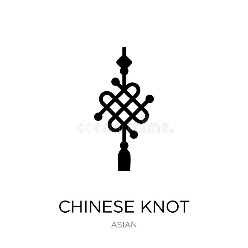 chinese knot icon in trendy design style. chinese knot icon isolated on white background. chinese knot vector icon simple and stock illustration