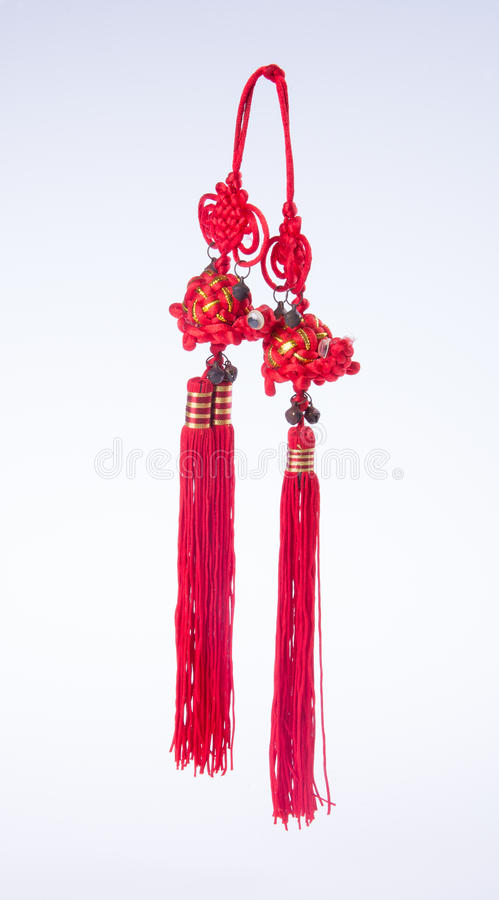 chinese knot or Lucky knot for chinese new year decoration on ba royalty free stock photo
