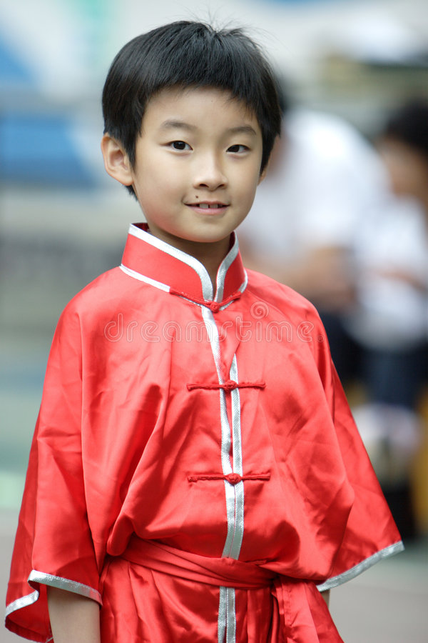 chinese kongfu child stock image