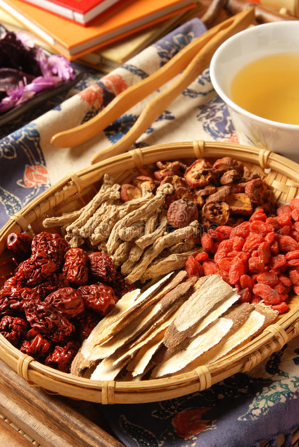 Chinese kruidengeneeskunde royalty-vrije stock foto's